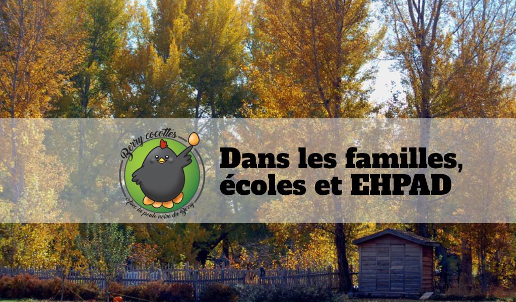 Dans les familles, les écoles ou les EHPAD
